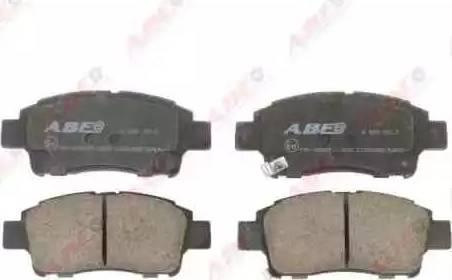 ABE C12084ABE - Комплект тормозных колодок, дисковый тормоз autodnr.net