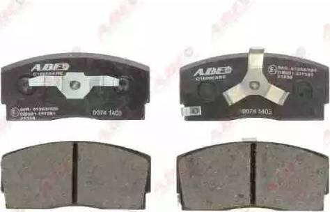 ABE C16006ABE - Тормозные колодки, дисковые car-mod.com