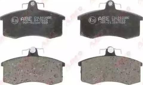 ABE C1L002ABE - Тормозные колодки, дисковые car-mod.com
