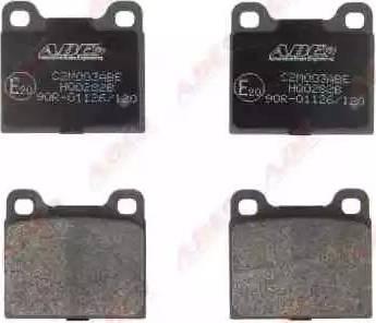 ABE C2M003ABE - Комплект тормозных колодок, дисковый тормоз autodnr.net