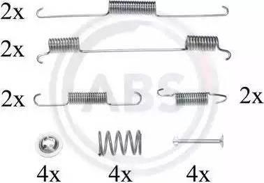A.B.S. 0861Q - Комплектующие, тормозная колодка autodnr.net