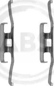 A.B.S. 1098Q - Комплектующие, колодки дискового тормоза autodnr.net