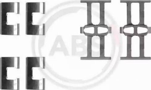 A.B.S. 1118Q - Комплектующие, колодки дискового тормоза autodnr.net