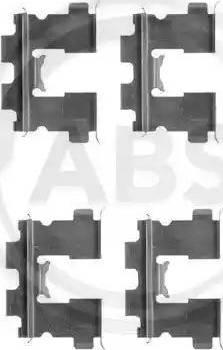 A.B.S. 1163Q - Комплектующие, колодки дискового тормоза autodnr.net