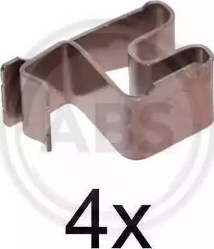 A.B.S. 1219Q - Комплектующие, колодки дискового тормоза avtokuzovplus.com.ua