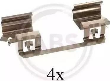 A.B.S. 1234Q - Комплектующие, колодки дискового тормоза avtokuzovplus.com.ua