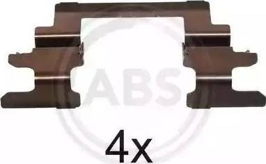 A.B.S. 1236Q - Комплектующие, колодки дискового тормоза avtokuzovplus.com.ua