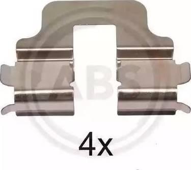 A.B.S. 1247Q - Комплектующие, колодки дискового тормоза avtokuzovplus.com.ua