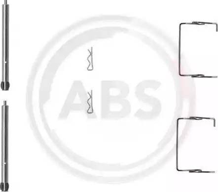 A.B.S. 1267Q - Комплектующие, колодки дискового тормоза avtokuzovplus.com.ua