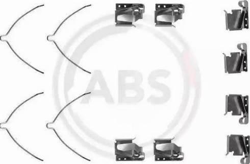 A.B.S. 1269Q - Комплектующие, колодки дискового тормоза autodnr.net