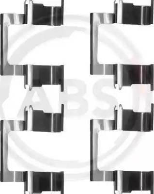 A.B.S. 1274Q - Комплектующие, колодки дискового тормоза avtokuzovplus.com.ua