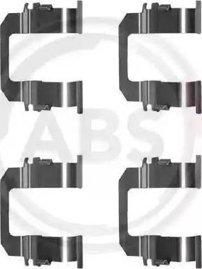 A.B.S. 1275Q - Комплектующие, колодки дискового тормоза avtokuzovplus.com.ua