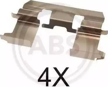 A.B.S. 1281Q - Комплектующие, колодки дискового тормоза autodnr.net