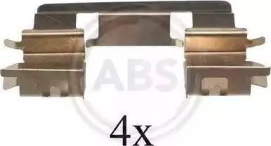 A.B.S. 1294Q - Комплектующие, колодки дискового тормоза avtokuzovplus.com.ua