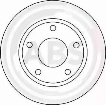A.B.S. 15712 - Тормозной диск autodnr.net