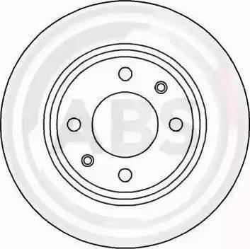 A.B.S. 15841 - Тормозной диск autodnr.net