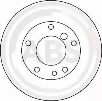 A.B.S. 15867 - Тормозной диск autodnr.net
