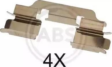 A.B.S. 1601Q - Комплектующие, колодки дискового тормоза autodnr.net