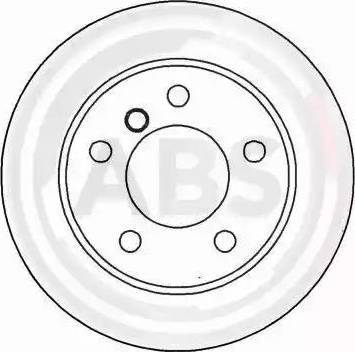 A.B.S. 16084 - Тормозной диск autodnr.net