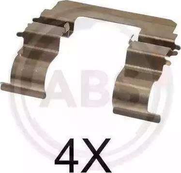 A.B.S. 1615Q - Комплектующие, колодки дискового тормоза avtokuzovplus.com.ua