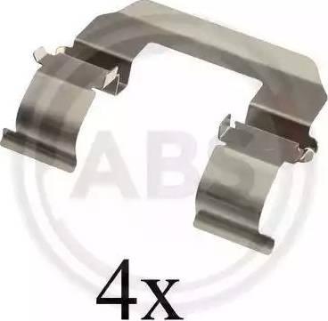 A.B.S. 1617Q - Комплектующие, колодки дискового тормоза avtokuzovplus.com.ua