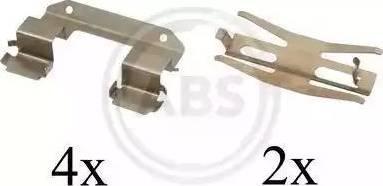 A.B.S. 1618Q - Комплектующие, колодки дискового тормоза avtokuzovplus.com.ua