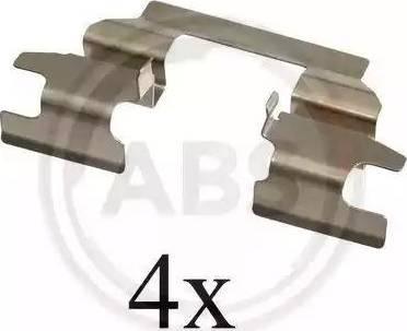 A.B.S. 1625Q - Комплектующие, колодки дискового тормоза avtokuzovplus.com.ua