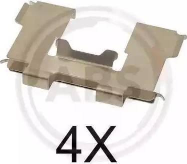 A.B.S. 1630Q - Комплектующие, колодки дискового тормоза avtokuzovplus.com.ua