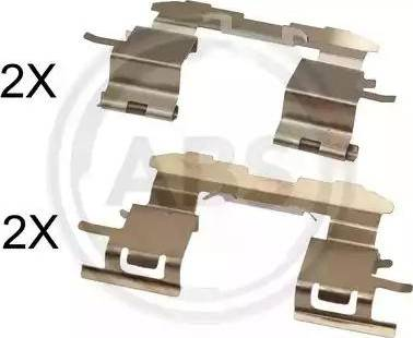 A.B.S. 1631Q - Комплектующие, колодки дискового тормоза avtokuzovplus.com.ua