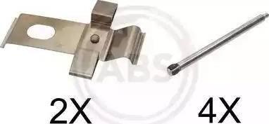 A.B.S. 1634Q - Комплектующие, колодки дискового тормоза avtokuzovplus.com.ua