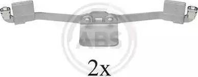 A.B.S. 1641Q - Комплектующие, колодки дискового тормоза avtokuzovplus.com.ua