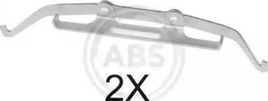 A.B.S. 1642Q - Комплектующие, колодки дискового тормоза autodnr.net