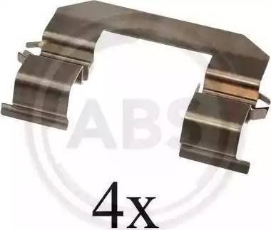 A.B.S. 1645Q - Комплектующие, колодки дискового тормоза autodnr.net