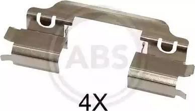 A.B.S. 1649Q - Комплектующие, колодки дискового тормоза avtokuzovplus.com.ua