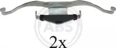 A.B.S. 1659Q - Комплектующие, колодки дискового тормоза avtokuzovplus.com.ua
