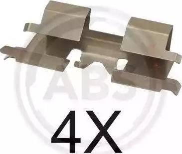 A.B.S. 1662Q - Комплектующие, колодки дискового тормоза avtokuzovplus.com.ua