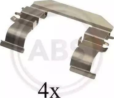 A.B.S. 1664Q - Комплектующие, колодки дискового тормоза avtokuzovplus.com.ua