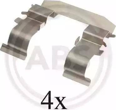 A.B.S. 1665Q - Комплектующие, колодки дискового тормоза avtokuzovplus.com.ua