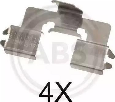A.B.S. 1666Q - Комплектующие, колодки дискового тормоза avtokuzovplus.com.ua