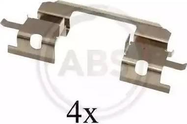 A.B.S. 1672Q - Комплектующие, колодки дискового тормоза avtokuzovplus.com.ua