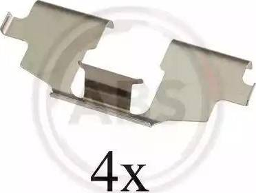 A.B.S. 1675Q - Комплектующие, колодки дискового тормоза autodnr.net