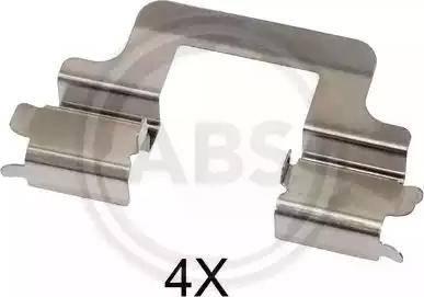 A.B.S. 1679Q - Комплектующие, колодки дискового тормоза avtokuzovplus.com.ua