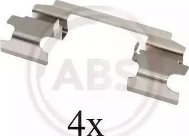 A.B.S. 1686Q - Комплектующие, колодки дискового тормоза avtokuzovplus.com.ua