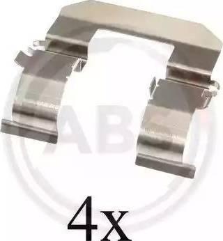 A.B.S. 1704Q - Комплектующие, колодки дискового тормоза avtokuzovplus.com.ua