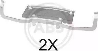 A.B.S. 1706Q - Комплектующие, колодки дискового тормоза avtokuzovplus.com.ua