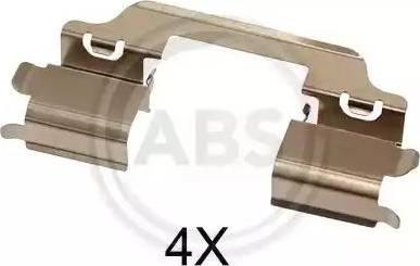 A.B.S. 1707Q - Комплектующие, колодки дискового тормоза avtokuzovplus.com.ua