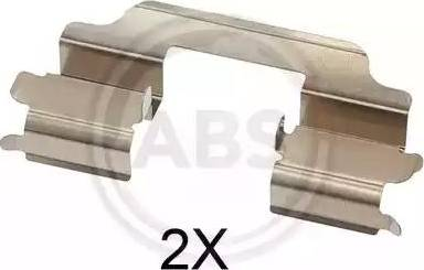 A.B.S. 1709Q - Комплектующие, колодки дискового тормоза avtokuzovplus.com.ua