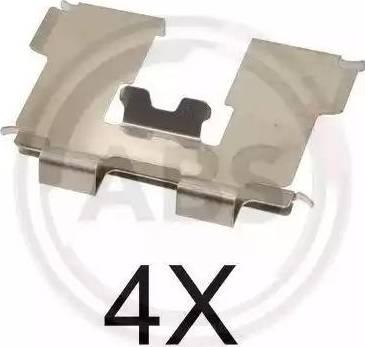 A.B.S. 1717Q - Комплектующие, колодки дискового тормоза avtokuzovplus.com.ua
