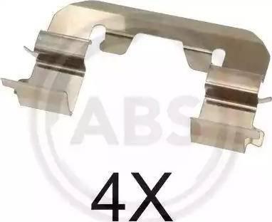 A.B.S. 1719Q - Комплектующие, колодки дискового тормоза avtokuzovplus.com.ua