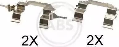 A.B.S. 1722Q - Комплектующие, колодки дискового тормоза avtokuzovplus.com.ua